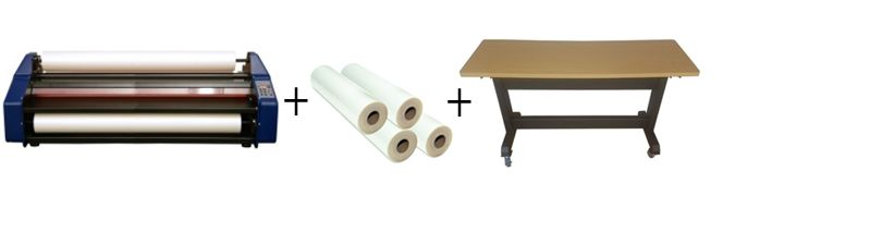 "Signature EM-40HR Wide Format 40"" Roll Laminator Package 2"