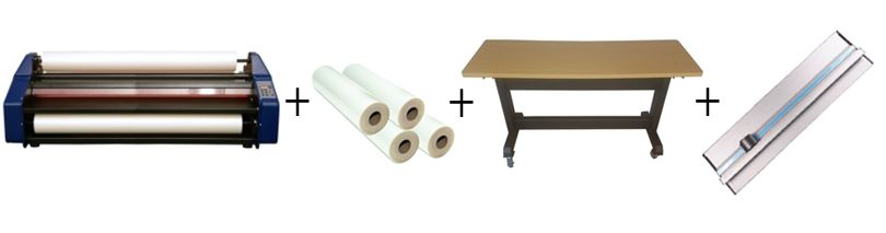 "Signature EM-40HR Wide Format 40"" Roll Laminator Package 3"