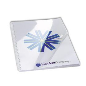 "Clear Binding Covers - 8-3/4"" x 11-1/4"" Rounded Corner Glossy Covers w/Slip Sheet"