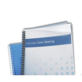 "Clear Frost Finish Binding Covers - 8-3/4"" x 11-1/4"" Rounded Corners"