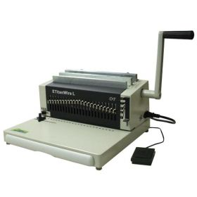 DFG ETitan Wire Heavy Duty Electric Punch Wire Binding Machine 2:1 Pitch