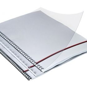 Clear Binding Covers 8.5 By 11 inch Square Corners - Sample Pack