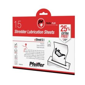 Pfeiffer Shredder Lubrication Sheets