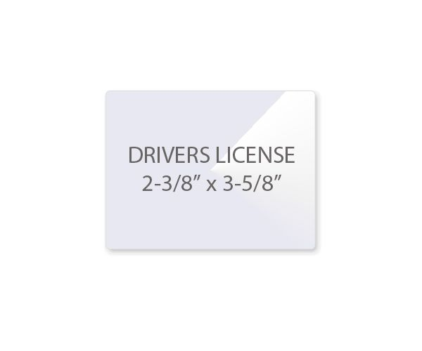 Drivers License Laminating Pouches Laminator Com