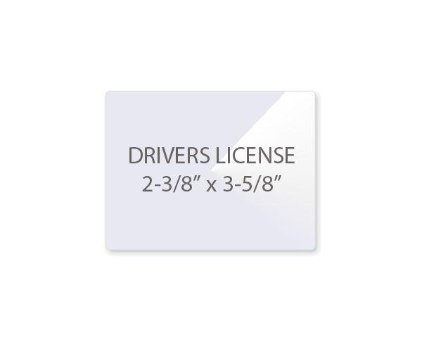 Drivers License Laminating Pouches Laminator Com