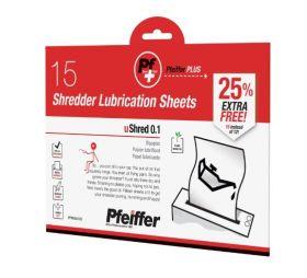 Pfeiffer Shredder Lubrication Sheets