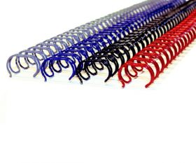 "Twin Loop Wire Binding Spines - 1"" - 2:1 Pitch"