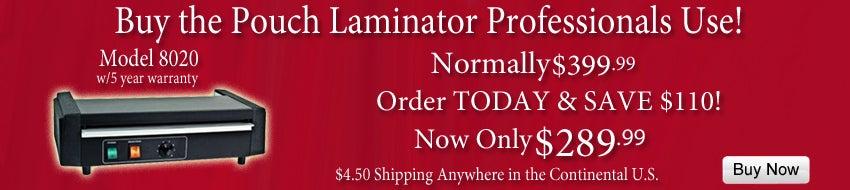 Model 8020 Laminator on Offer