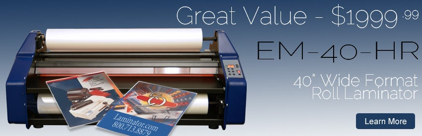 Buy Signature EM-40-HR Wide Format 40 inch Roll Laminator